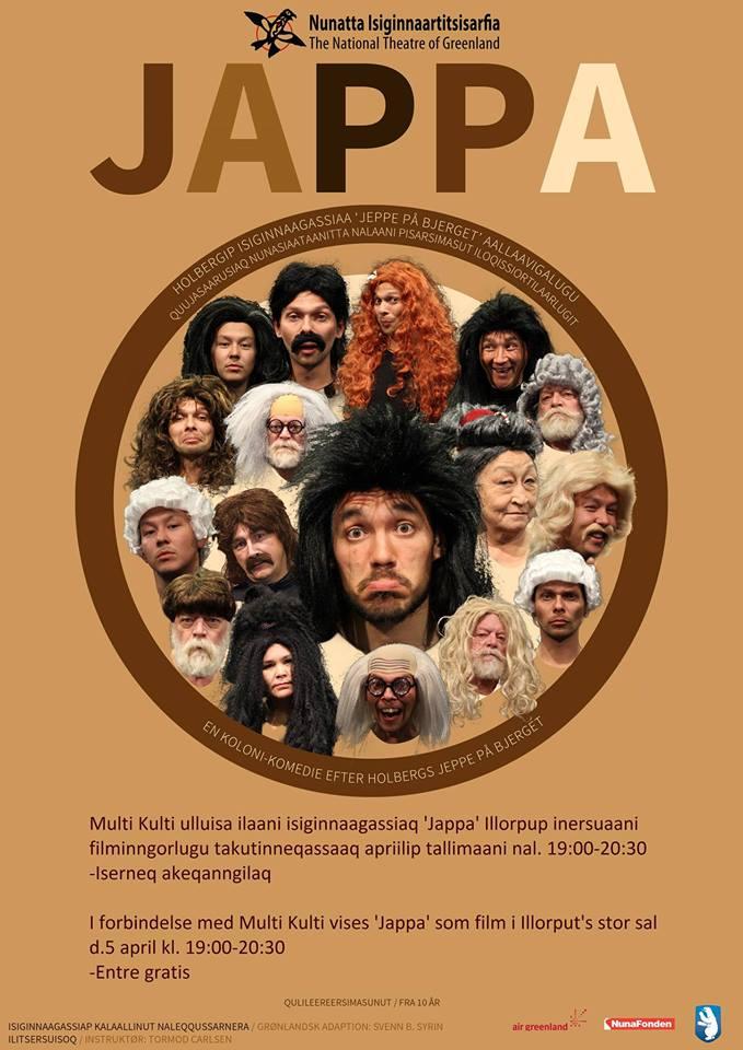 Teaterforestillingen 'Jappa' vises som film i Illorput i forbindelse med Multi Kulti